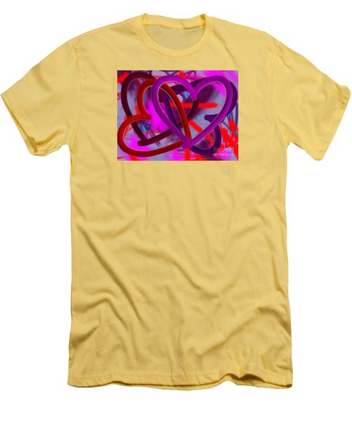 Men's T-Shirt (Slim Fit) featuring the painting Wild Hearts by Go Van Kampen