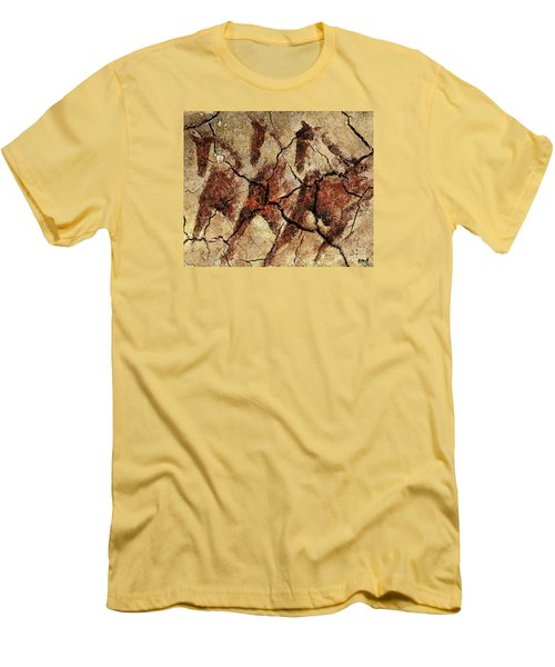 Wild Horses - Cave Art Men's T-Shirt (Slim Fit) by Dragica  Micki Fortuna