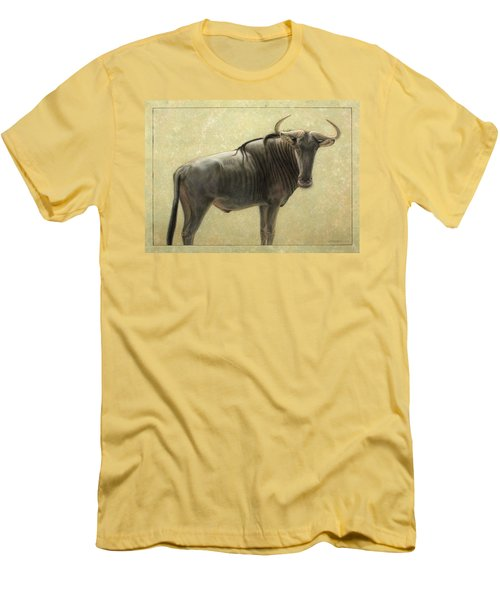 Wildebeest Men's T-Shirt (Slim Fit) by James W Johnson