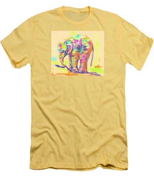 Wildlife Baby Elephant Men's T-Shirt (Athletic Fit)