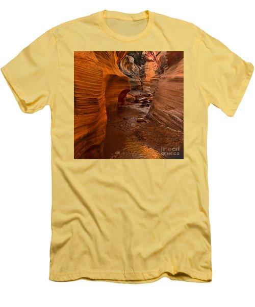 Willis Creek Slot Canyon Men's T-Shirt (Slim Fit) by Robert Bales