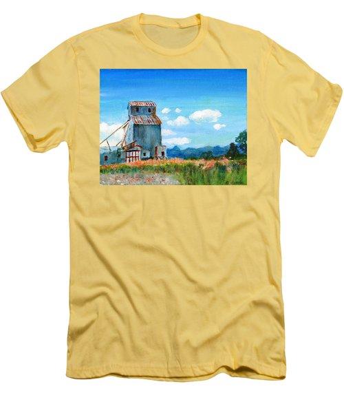 Willow Creek Grain Elevator II Men's T-Shirt (Slim Fit) by C Sitton