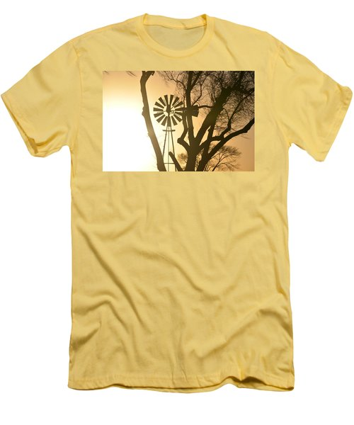 Men's T-Shirt (Slim Fit) featuring the photograph Spinning In The Sundown by Clarice  Lakota
