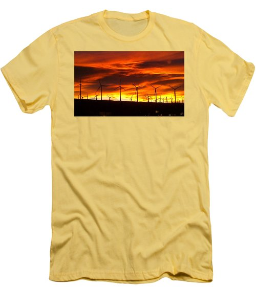 Men's T-Shirt (Slim Fit) featuring the photograph Shades Of Light  by Chris Tarpening