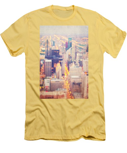 Windy City Lights - Chicago Men's T-Shirt (Athletic Fit)