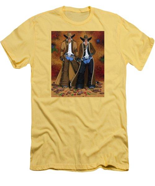 Wine And Roses Men's T-Shirt (Slim Fit) by Lance Headlee