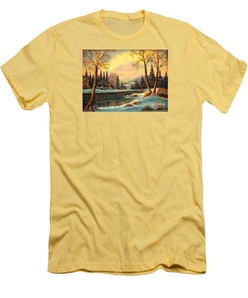 Winter Splendor Men's T-Shirt (Slim Fit) by Hazel Holland