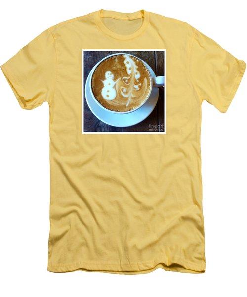 Winter Warmth Latte Men's T-Shirt (Slim Fit) by Susan Garren