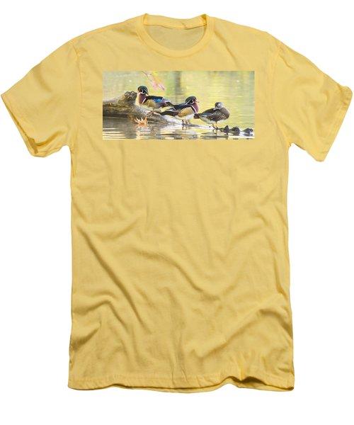 Wood-ducks Panorama Men's T-Shirt (Athletic Fit)