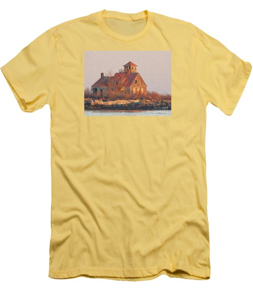 Wood Island Men's T-Shirt (Athletic Fit)