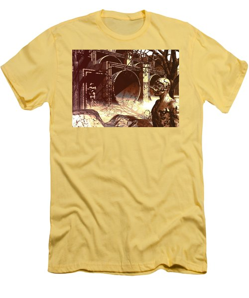 Men's T-Shirt (Slim Fit) featuring the digital art World Of Ruin by John Alexander