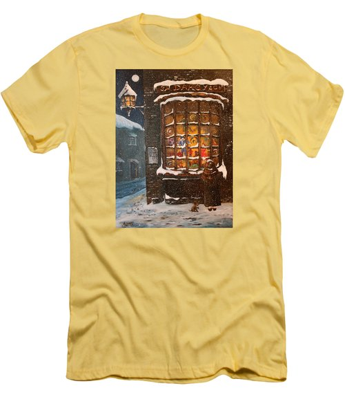 Men's T-Shirt (Slim Fit) featuring the painting Ye Old Toy Shoppe by Jean Walker