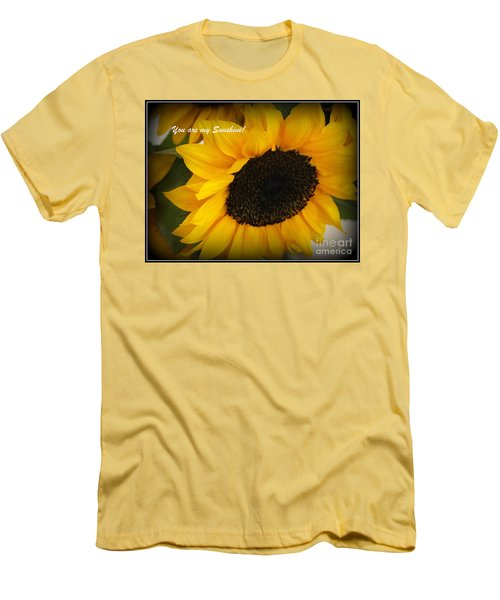 You Are My Sunshine - Greeting Card Men's T-Shirt (Slim Fit) by Dora Sofia Caputo Photographic Art and Design