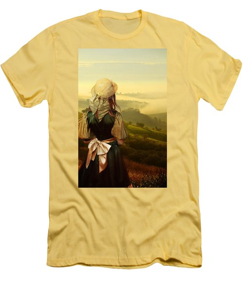 Young Traveller Men's T-Shirt (Slim Fit) by Jaroslaw Blaminsky