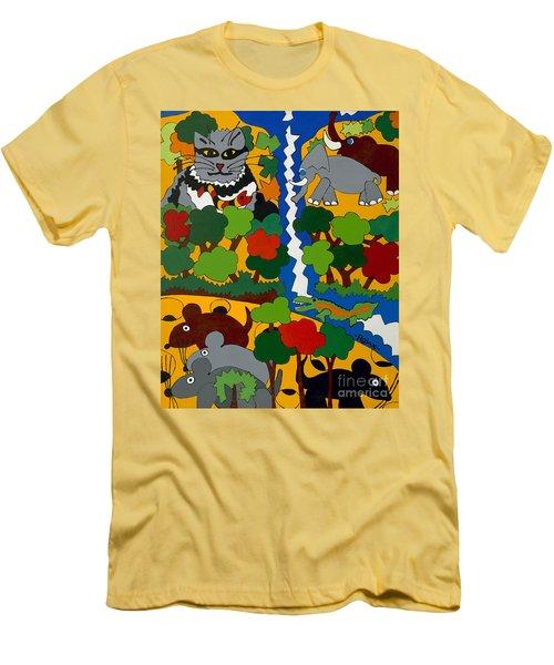 Zane Grey In Africa Men's T-Shirt (Slim Fit) by Rojax Art
