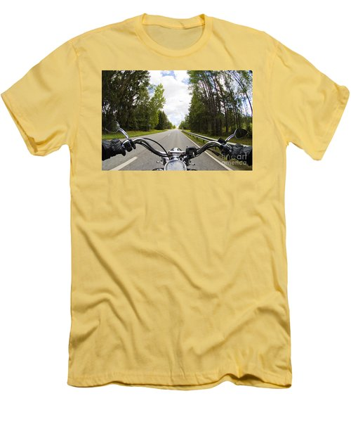 On The Road Men's T-Shirt (Slim Fit) by Micah May