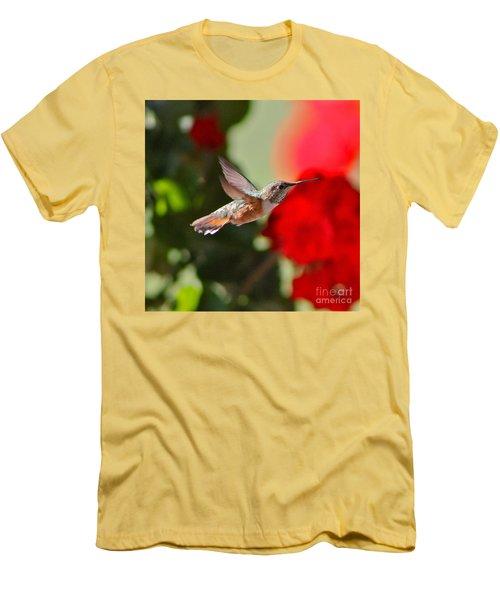 Hummingbird 3 Men's T-Shirt (Slim Fit) by Pamela Walrath