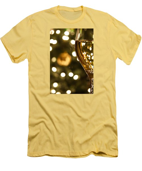 A Drink By The Tree Men's T-Shirt (Slim Fit) by Andrew Soundarajan