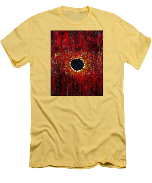 Men's T-Shirt (Slim Fit) featuring the painting A Long Time Coming by Michael Cross