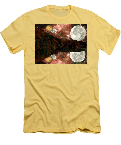 Alien World Men's T-Shirt (Slim Fit) by Sarah McKoy