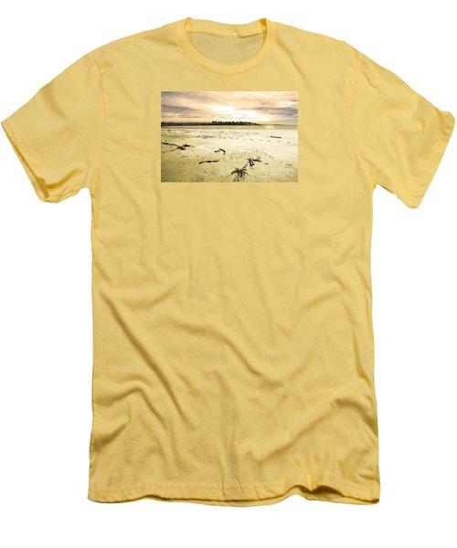Men's T-Shirt (Slim Fit) featuring the photograph At Caroline Bay Timaru New Zealand by Nareeta Martin