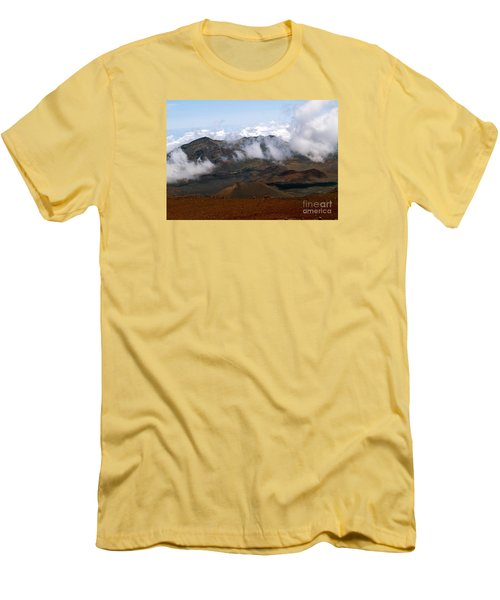 At The Rim Of The Crater Men's T-Shirt (Slim Fit) by Patricia Griffin Brett