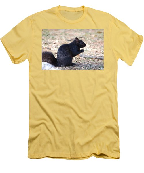 Black Squirrel Of Central Park Men's T-Shirt (Athletic Fit)