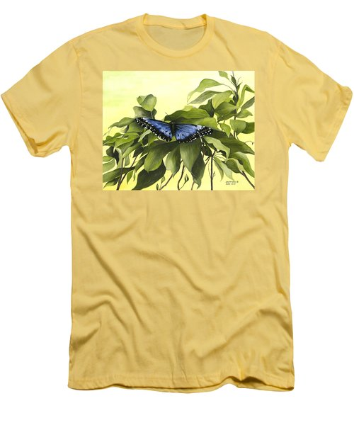 Blue Butterfly Of Branson Men's T-Shirt (Athletic Fit)
