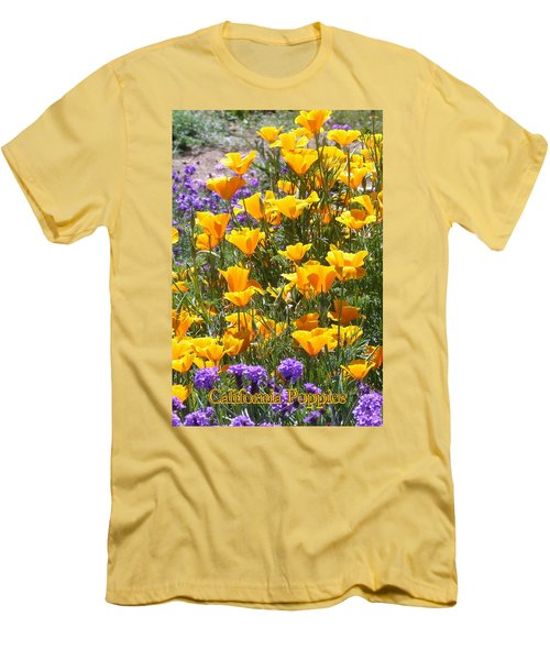 California Poppies Men's T-Shirt (Slim Fit) by Carla Parris