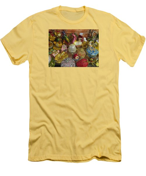Men's T-Shirt (Slim Fit) featuring the photograph  Fancy And Colorful by Tina M Wenger