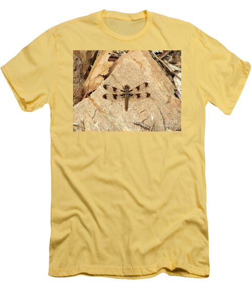 Men's T-Shirt (Slim Fit) featuring the photograph Dragonfly At Rest by Deniece Platt