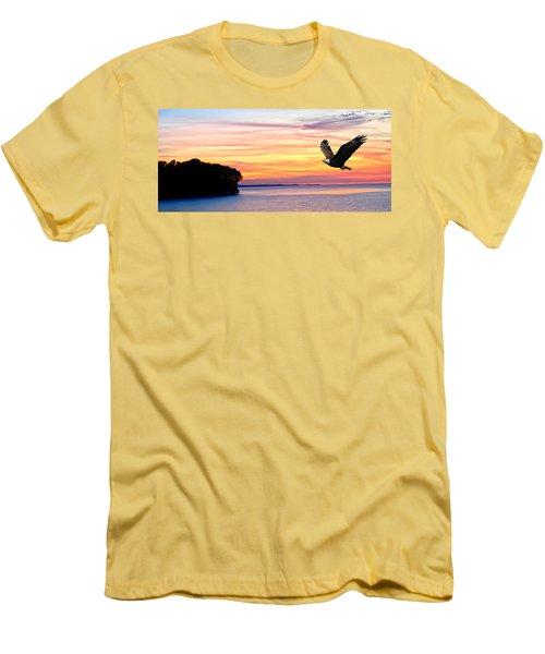 Men's T-Shirt (Slim Fit) featuring the photograph Eagle Sunrise by Randall Branham