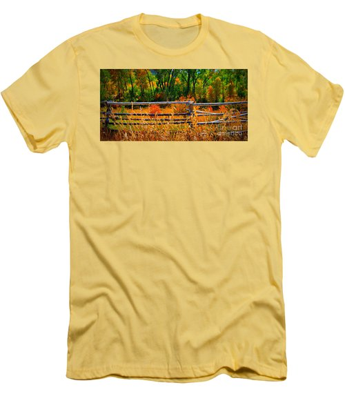 Fall  Men's T-Shirt (Slim Fit) by Janice Westerberg