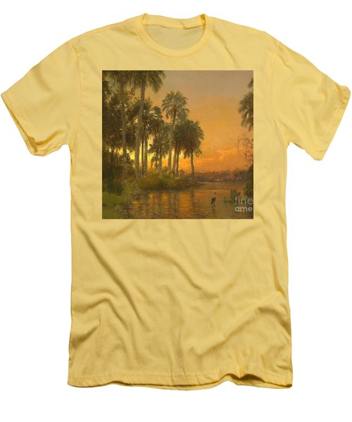 Florida Sunset Men's T-Shirt (Slim Fit) by Pg Reproductions
