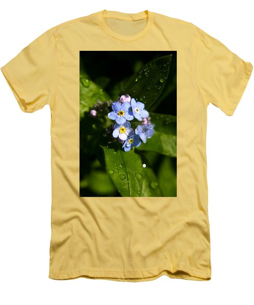 Forget Me Not Men's T-Shirt (Slim Fit) by Ralph A  Ledergerber-Photography