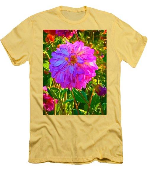 Fuchsia Delight Men's T-Shirt (Slim Fit) by Ken Stanback