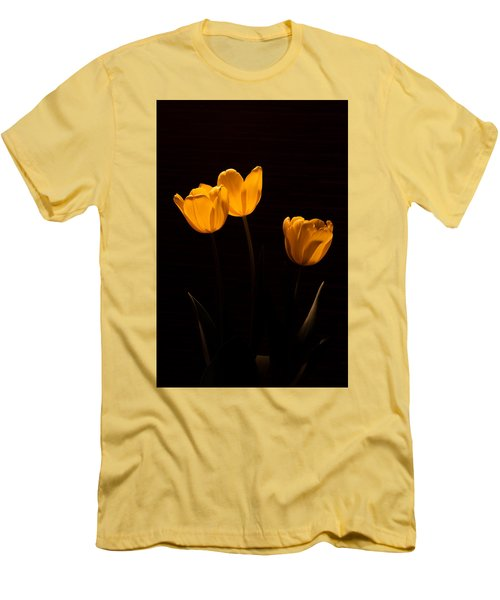 Men's T-Shirt (Slim Fit) featuring the photograph Glowing Tulips by Ed Gleichman