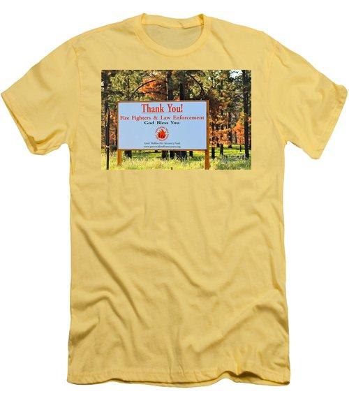 Gratitude Men's T-Shirt (Slim Fit) by Pamela Walrath