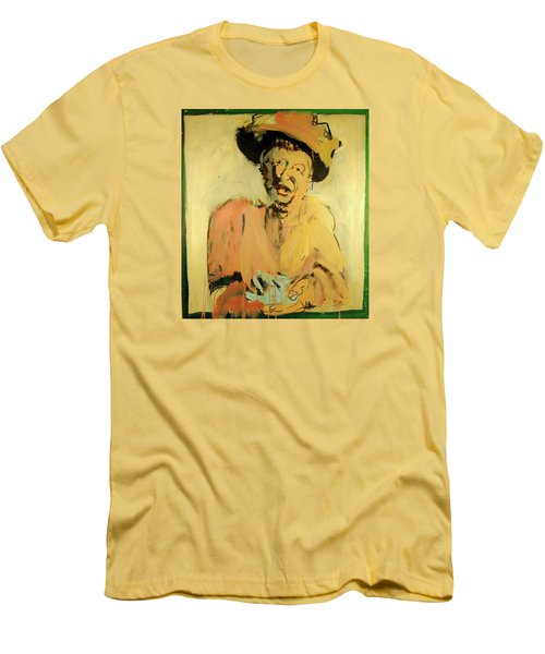 Men's T-Shirt (Slim Fit) featuring the painting Gretchen Colnik by Les Leffingwell