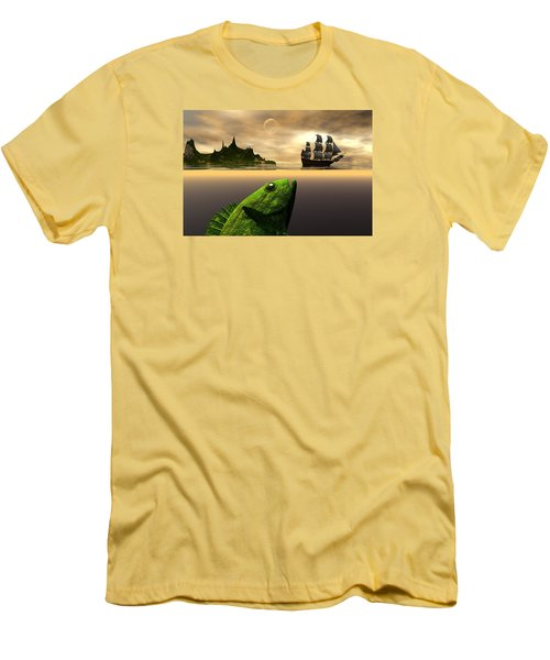 Men's T-Shirt (Slim Fit) featuring the digital art Gustatory Anticipation by Claude McCoy