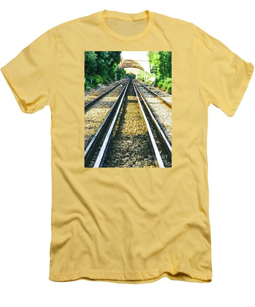 Men's T-Shirt (Slim Fit) featuring the photograph How Come They Never Go Up The Middle by Steve Taylor