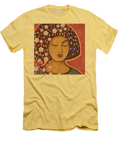 Men's T-Shirt (Slim Fit) featuring the painting Kali by Gloria Rothrock