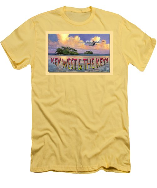 Key West Air Force Men's T-Shirt (Slim Fit) by David  Van Hulst