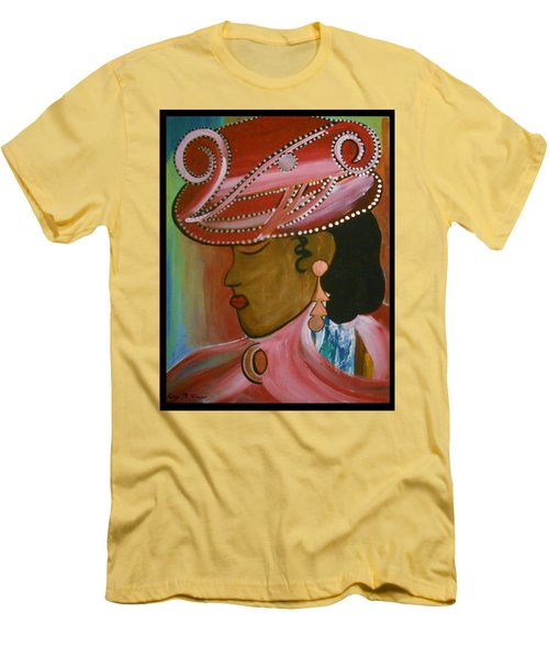 Lady In Pink Men's T-Shirt (Slim Fit) by Kelly Turner