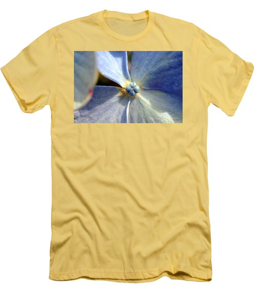 Men's T-Shirt (Slim Fit) featuring the photograph Little Blue Flower by Kay Lovingood