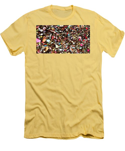 Men's T-Shirt (Slim Fit) featuring the photograph Locks Of Love by Kume Bryant