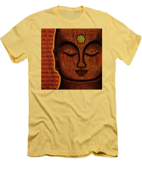 Men's T-Shirt (Slim Fit) featuring the painting Love by Gloria Rothrock