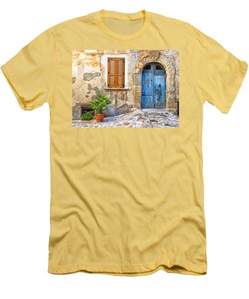 Mediterranean Door Window And Vase Men's T-Shirt (Athletic Fit)
