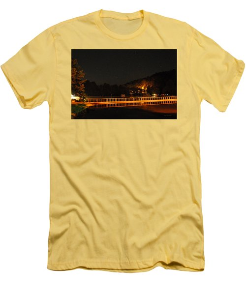 Men's T-Shirt (Slim Fit) featuring the photograph Night Bridge by Kay Lovingood