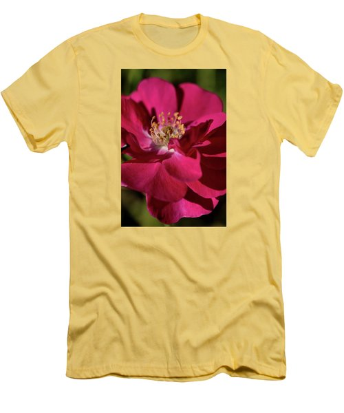 Men's T-Shirt (Slim Fit) featuring the photograph Pink Of Rose by Joy Watson